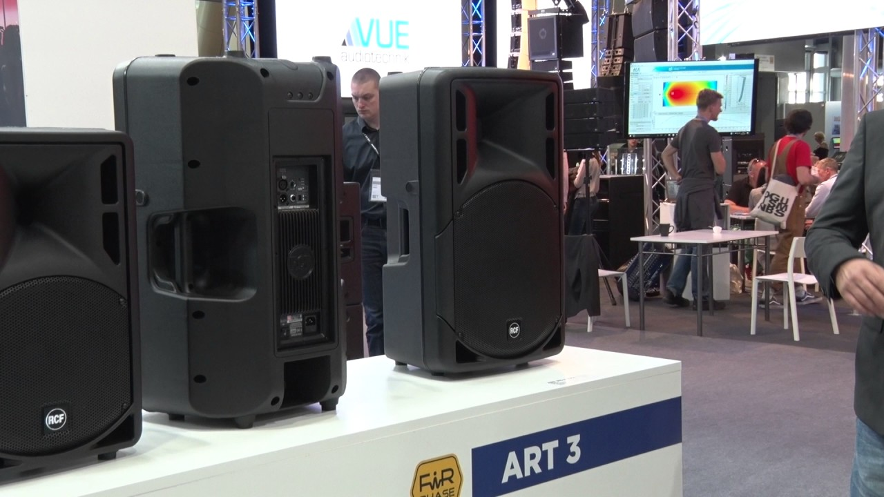 speakers art. musikmesse 2017 rcf shows updated art 310 / 312 315 speakers prolight+sound (english) art