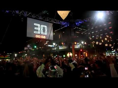 Happy New Years Countdown 2012 from Mill Ave, Tempe, Arizona!