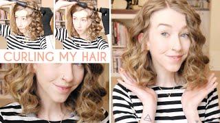 How I Curl My Hair (Short & Thick Hair) Thumbnail