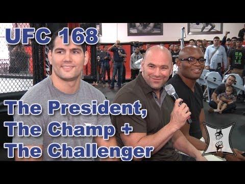 UFC's Dana White, Champ Chris Weidman + Anderson Silva Fan Q&A (1st stop of the tour)