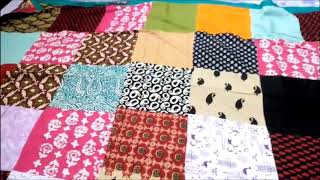 How to make rajai cover with old clothes || DIY