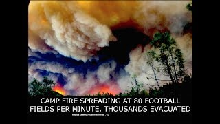Latest, Camp Fire, Engulfs California, 80 Football Fields Per Minute, Entire Towns Evacuated