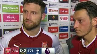 Mustafi, Ozil laud Arsenal's effort in 2-0 derby win against Spurs on 18 November 2017