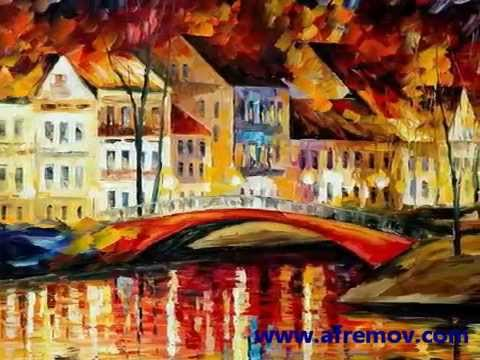 Slide Show - collection of city scenes of Czech Republic painted by artist Leonid Afremov