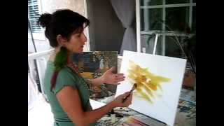 How to Paint a Background with Acrylic on Canvas