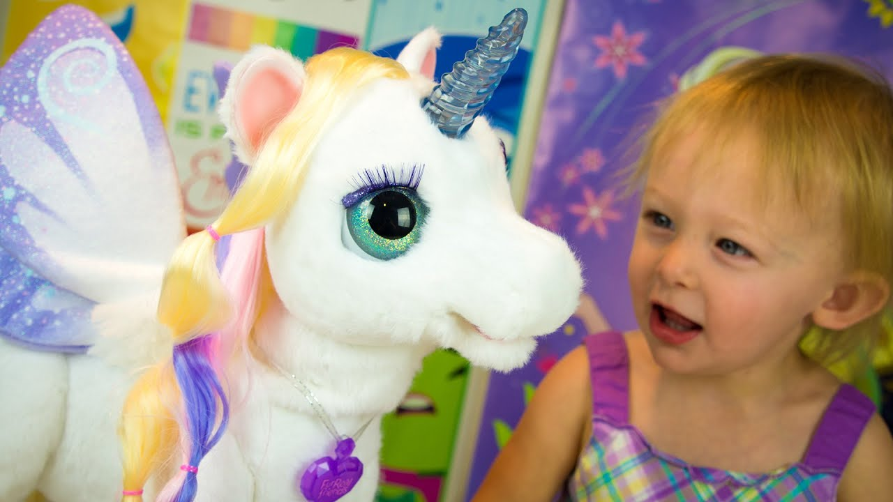 StarLily My Magical Unicorn Toy FurReal Friends Review Girl Toys