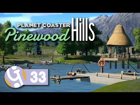 🌲 Fishing Lake | Pinewood Hills | Let's Play Planet Coaster #33
