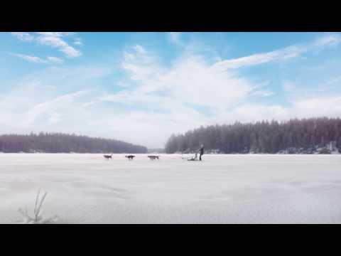 Winter in Lake Saimaa Finland