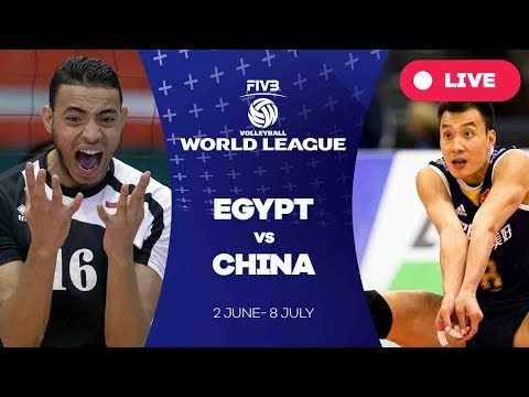 Egypt v China - Group 2: 2017 FIVB Volleyball World League