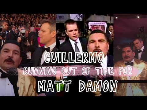 Thumbnail: Guillermo running out of time for Matt Damon on red carpets