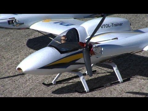 Norio pilots the Bixler tilt rotor flying around nasa