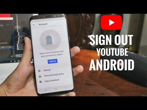 How To Sign Out From YouTube In Android Easy 2019