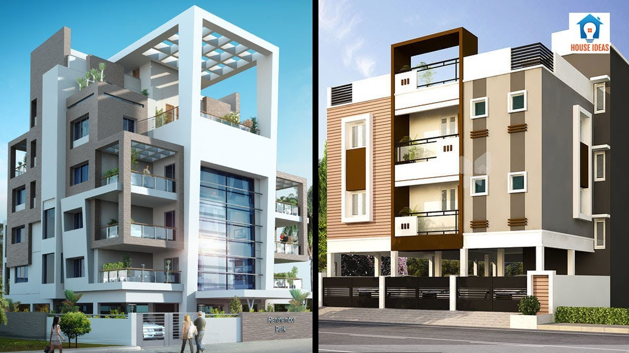 Awesome apartment elevation design ideas   apartment front ...