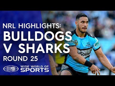 NRL Highlights: Canterbury Bulldogs v Cronulla Sharks - Round 25