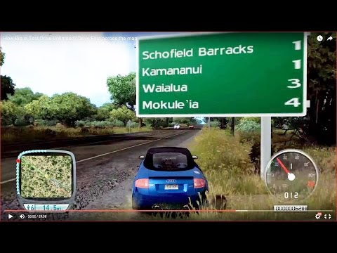 HOW BIG IS THE MAP in Test Drive Unlimited? Drive Across the Map Fast