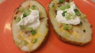 Easy Game Day Appetizer - Baked Potato Skins