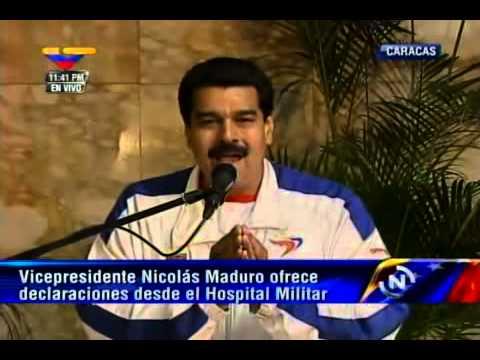 Rueda de prensa de Maduro desde Hospital Militar tras 5 horas de reunión de trabajo con Chávez