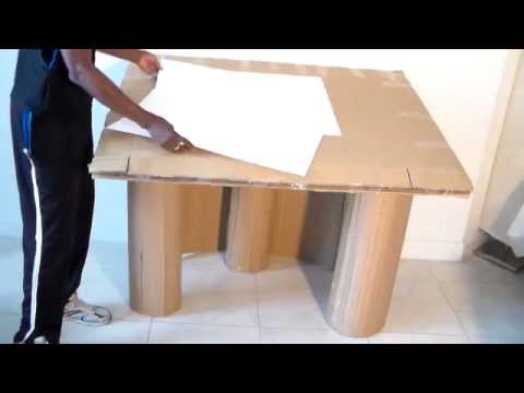 How To Make Large ARTIST DESK From Cardboard Part 1 Of 7