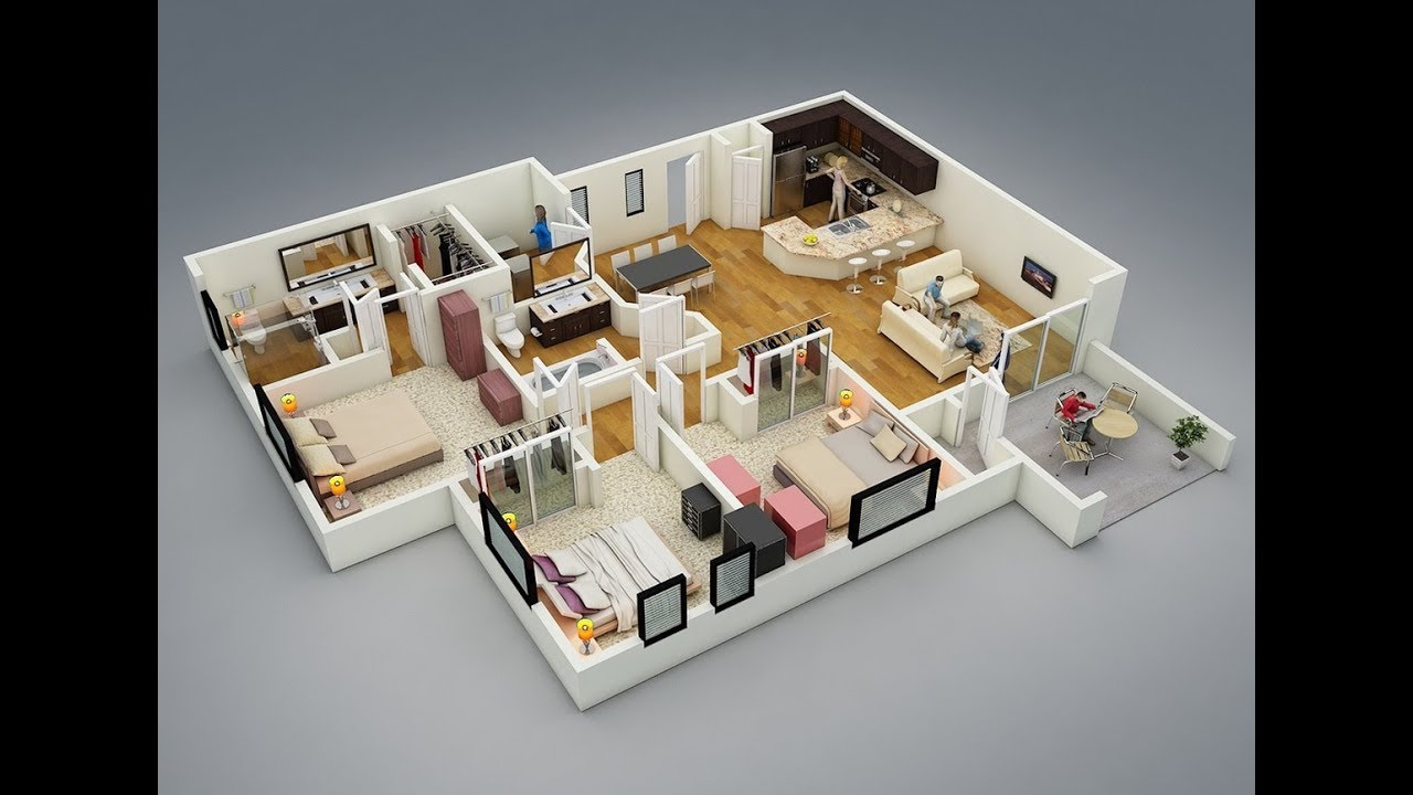 Revit Tutorial: 3D floor plan - YouTube