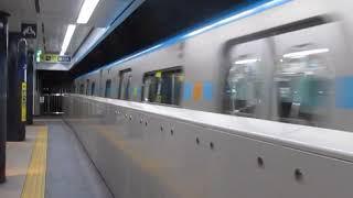 仙台市営地下鉄東西線2000系2106F仙台駅到着※警笛あり