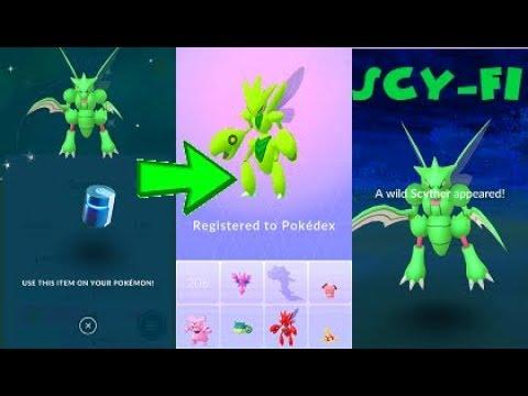 Pokemon Go Shiny Scyther Catch & Scizor Evolution After 150 Tries