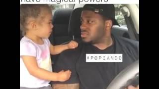 Sweet little girl get hugs from Dad