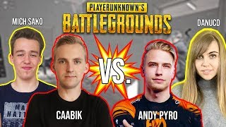 WE PLAYED AGAINST PROFESSIONAL PUBG PLAYERS! AndyPyro & Danucd