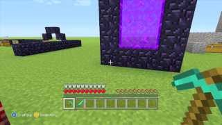 how to make a nether portal in minecraft commentary explained in creative mode and survival mode