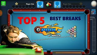 TOP 5 Best Breaks in 8 Ball Pool | Best Opening Breaks | Pooja 8BP |