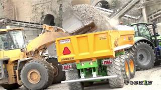 Trans-KTP 27/65 TRM tipping trailer in a quarry