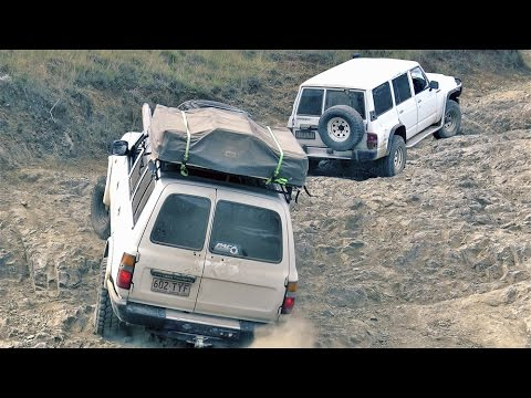 Toyota Land Cruiser 80 vs  Nissan Patrol GQ offroading 4wd 4×4