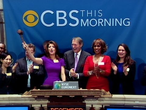 """CBS This Morning"" anchor team rings NYSE Closing Bell"