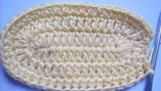 Instructions: Crochet baby booties Part 1