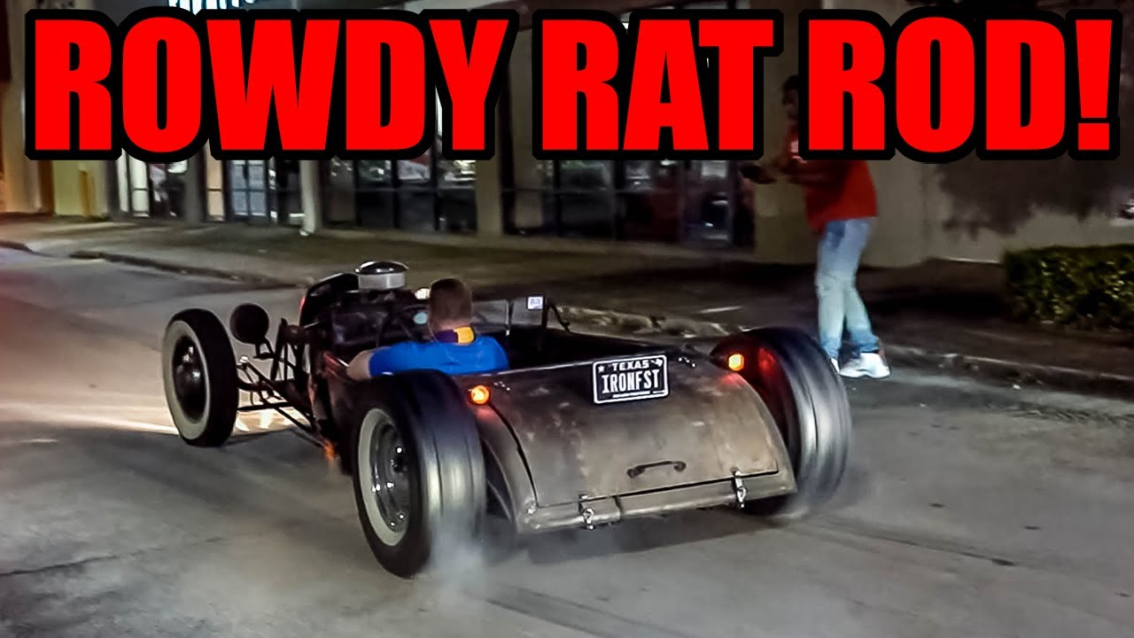 INSANE Rat Rod BURNS OUT Leaving CRAZY CAR SHOW!