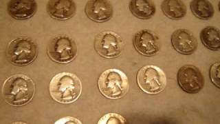 Скачать Flea Market Find 15 Silver Quarters Halves Dollars