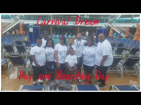 Carnival Dream Cruise Vlogs August 2017- Boarding the ship