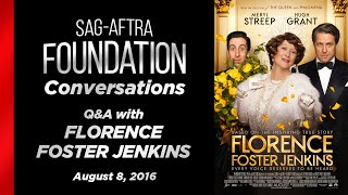 Conversations with Meryl Streep Hugh Grant and Simon Helberg of FLORENCE FOSTER JENKINS