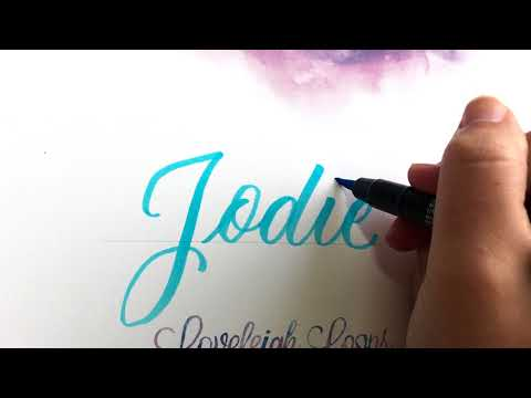 Real time brush calligraphy: Writing names