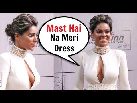 Tv Actress Nia Sharma Hot Dress At Zee Gold Awards 2018 thumbnail