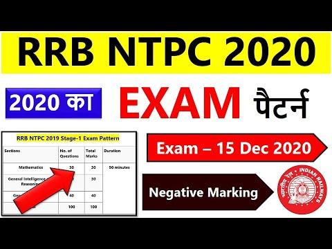 ( Updated ) RRB NTPC Exam Pattern U0026 Syllabus 2020 | Latest | Exam Pattern | Syllabus 2020| Railways