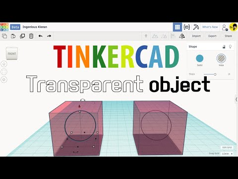 8  Tinkercad tutorials - Transparent object   3D modeling How to