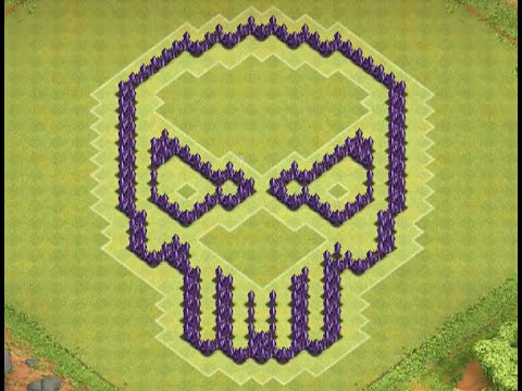 Clash of clans th7 skull base youtube
