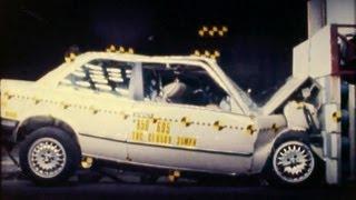 1985 Bmw 318i | Frontal Crash Test By Nhtsa | Crashnet1