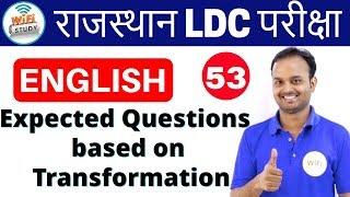 3:00 PM English for Rajasthan LDC,RAS Exams by Sanjeev Sir | Day#53 | Expected Questions