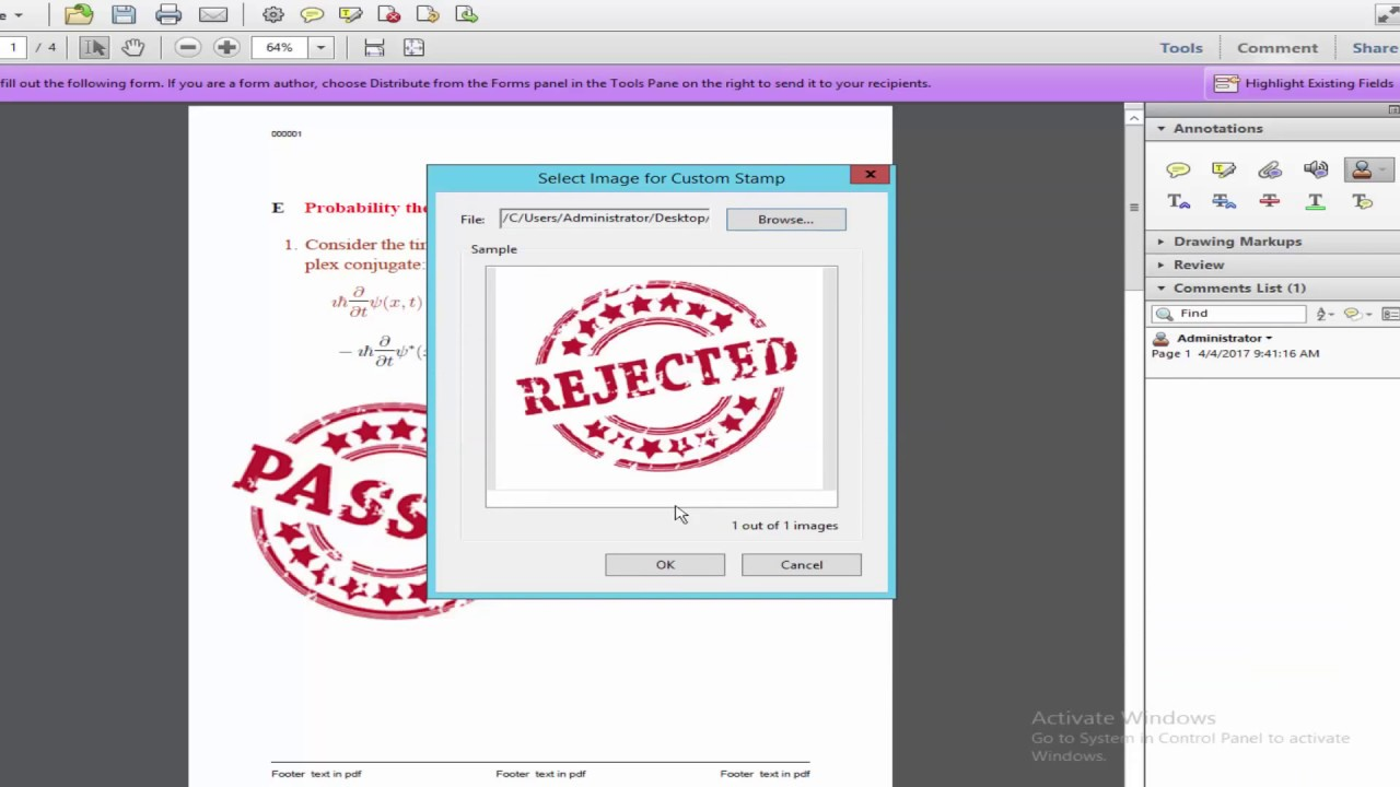 How To Make Stamp In Pdf By Using Adobe Acrobat Pro