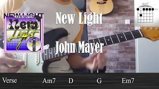Download Lagu New Light Tutorial - John Mayer (Including solo) Mp3