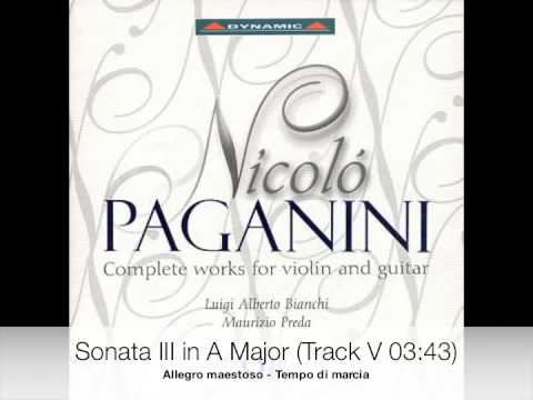 Paganini - Complete works for violin and guitar CD 2-9