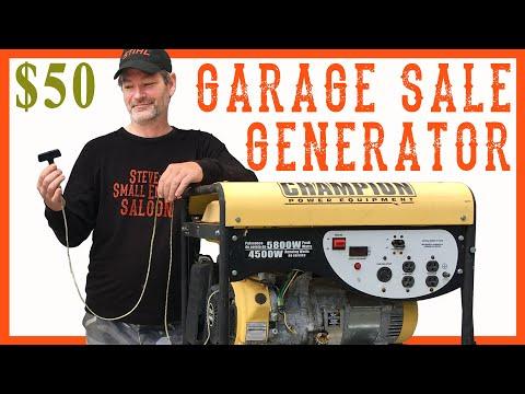 How I Fixed A Yard Sale Generator - Video