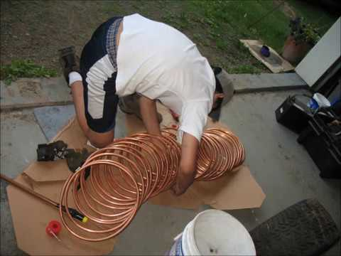 Wood Fired Pool Heater Youtube