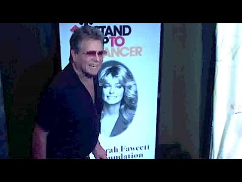 Ailing RYAN O'NEAL walks with cane attending Farrah Fawcett Foundation gala in Beverly Hills